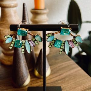 Jewelry - 🌿 Turquoise 2-1 Crystal Earrings